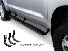 "Big Country Truck Accessories 395203870 5"" WIDESIDER Platinum Side Bars Kit: Textured Black + Brackets (Gas Only)"
