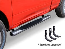 "Big Country Truck Accessories 394169526 4"" WIDESIDER Platinum Side Bars Kit - 52"" Long Stainless + Mounting Brackets"