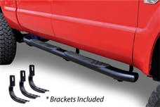"Big Country Truck Accessories 395203801 5"" WIDESIDER XL Composite Side Bars Kit - Black + Mounting Brackets (Gas Only)"