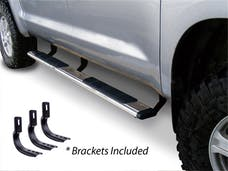"""Big Country Truck Accessories 395188876 5"""" WIDESIDER Platinum Side Bars Kit: 87"""" Long Polished Stainless Steel +Brackets"""