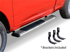 """Big Country Truck Accessories 395169526 5"""" WIDESIDER Platinum Side Bars Kit: 52"""" Long Polished Stainless Steel +Brackets"""