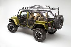 Body Armor JK-2394 Rear Bumper for Jeep JK; formed design accepts swing arm 5294