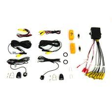 Brandmotion 9002-2904V2 Dual Camera Blind Spot Monitoring System w/Smart Switcher for Display Radio
