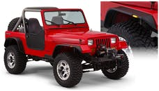 Bushwacker 10923-07 Jeep Flat Style Fender Flares 4pc Textured