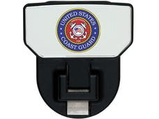 Carr 183202 HD Universal Hitch Step US Coast Guard-single