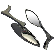 Cipa 01905 Motorcycle Chrome Teardrop Mirror Kit (Left and Right Side) Universal