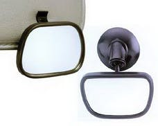 Cipa 49606 Rearview Baby Mirror provides safe viewing of back seat occupants or cargo