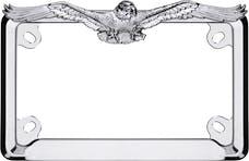Cruiser Accessories 77023 MC Eagle License Plate Frame (Chrome)
