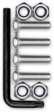 Cruiser Accessories 81300 Locking Fastener Set (Stainless Steel, Star-Pin, Metric)
