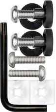 Cruiser Accessories 81420 Locking Fastener Set (Stainless Steel, Rattle Stop, Standard)