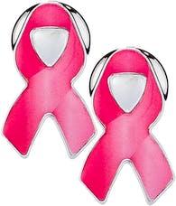 Cruiser Accessories 82000 Pink Ribbon Fastener Caps (4pc)