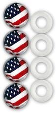 Cruiser Accessories 82300 USA Flag Fastener Caps (4pc)