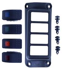 Daystar KJ81001BK A-Pillar Switch Pod; Black (Includes 4 Switches)
