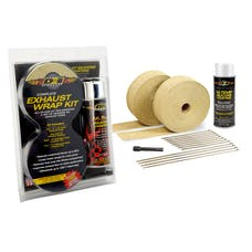 Design Engineering, Inc. 010091 Exhaust & Pipe Wrap Kit, Tan with White HT