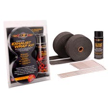 Design Engineering, Inc. 010094 Exhaust & Pipe Wrap Kit, Black with HT