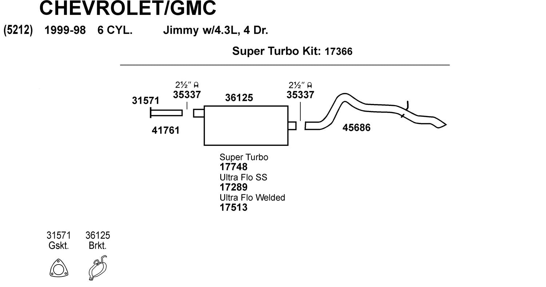 Dynomax 17513 Ultra Flo Welded Muffler