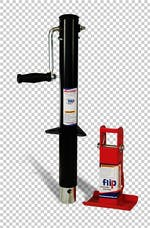 "Fastway 88-00-6265 Side Wind Jack With 6"" Flip Automatic Jack Foot"