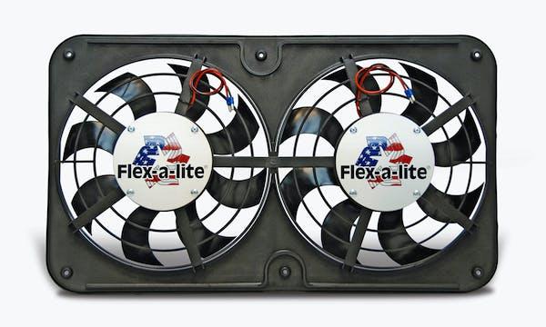 "Flex-A-Lite 420 Fan Electric 12 1/8"" dual shrouded puller Lo-Profile S-blade w/o controls"