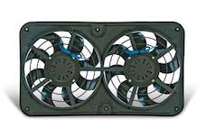 """Flex-A-Lite 490 Fan Electric 12 1/8"""" dual shrouded push/pull uni X-treme S-blade w/o controls"""