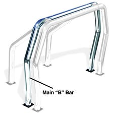 "Go Rhino 90002PS Rear Main ""B"" Bed Bar - Stainless"