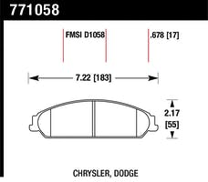 Hawk Performance 771058 OES Disc Brake Pads