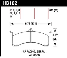 Hawk Performance HB102Q.600 Disc Brake Pad