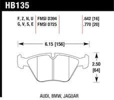 Hawk Performance HB135EE.770 Disc Brake Pad