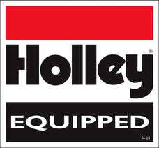 Holley 36-28 Decal  Holley Equipped