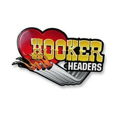 Hooker 10145HKR Hooker Metal Embossed Sign