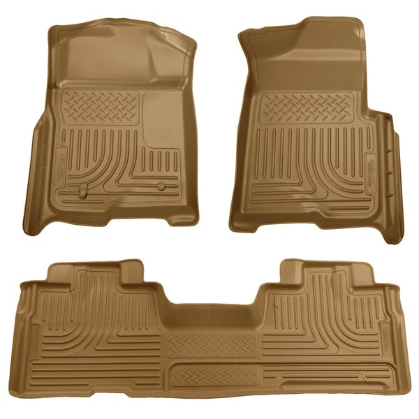 Husky Liners 98343 Weatherbeater Series Front & 2nd Seat Floor Liners (Footwell Coverage)