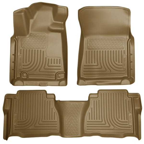 Husky Liners 98583 Weatherbeater Series Front & 2nd Seat Floor Liners (Footwell Coverage)