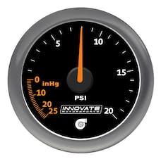 Innovate Motorsports 3857 MTX Analog, 20 PSI Vacuum/Boost Gauge Kit Black Dial