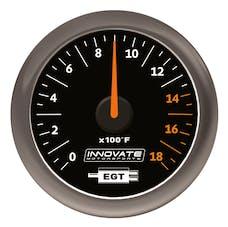 Innovate Motorsports 3865 MTX Analog Exhaust Gas Temperature (EGT) Gauge Kit Black Dial