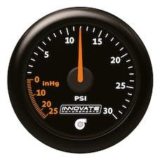 Innovate Motorsports 3908 MTX-A Analog Series 30 PSI Vac/ Boost Gauge Kit (black, interchangeable bevel)