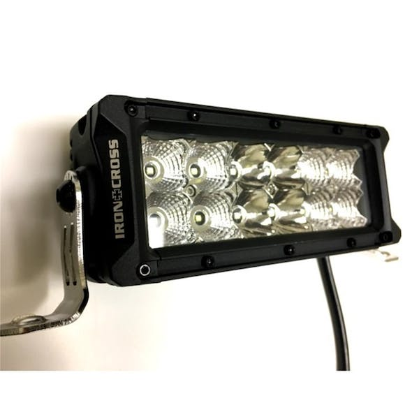 Iron Cross Automotive 20-75LED 7.5 Inch Dual Row LED Light Bar (3240 Lumens)