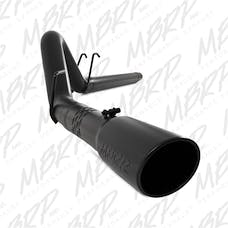 MBRP Exhaust S6242BLK 4in. Filter Back; Single Side Exit; Black Coated