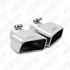 MBRP Exhaust T5120 Tip; 4½ x 2¾ ID; Rectangle; Angled Cut; 3in. O.D. inlet; Passenger Side; 7? leng