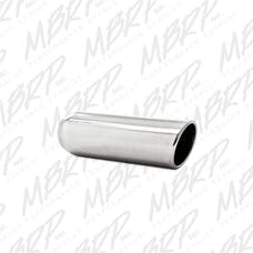 MBRP Exhaust T5138 3.5in. OD; 2.5in. inlet; 12in. in length; Angled Cut Rolled End; Weld on; T304