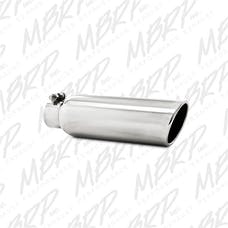MBRP Exhaust T5147 3.5in. OD; 2.25in. inlet; 12in. in length; Angled Cut Rolled End; Clampless-no w