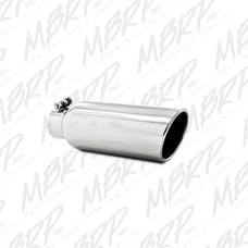 MBRP Exhaust T5150 4in. OD; 2.5in. inlet; 12in. in length; Angled cut Rolled End; Clampless-no weld