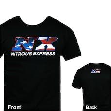 Nitrous Express 16547P Black NX Flag T-Shirt