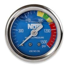 "NOS 15918NOS Nitrous Gauge, Blue 1-1/2"", Liquid Filled"