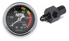 NOS 15921NOS Nitrous Gauge with -4AN Adapter, Black, 1-1/2""