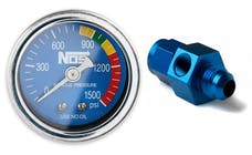 "NOS 15934NOS NOS Nitrous Gauge, Blue, 1-1/2"" with -6AN Adapter"