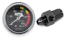 "NOS 15935NOS NOS Nitrous Gauge, Black, 1-1/2"" with -6AN Adapter"
