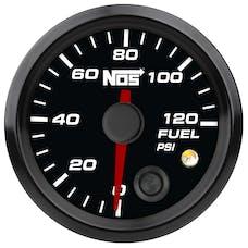 """NOS 15941NOS NOS Analog Style 2-1/16"""" Fuel Pressure Gauge, Black Face, 0-120 PSI"""