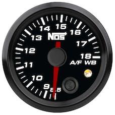 """NOS 15945NOS NOS Analog Style 2-1/16"""" Standalone Air/Fuel Wideband Gauge Kit, Black Face"""