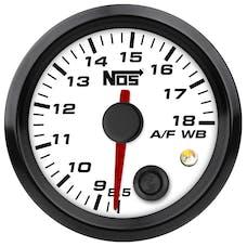 """NOS 15946NOS NOS Analog Style 2-1/16"""" Standalone Air/Fuel Wideband Gauge Kit, Black Face"""