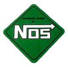 NOS 19205NOS Logo Decal  Green Diamond