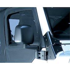 Omix-ADA 11002.10 Door Mirror; Right; Black; 87-06 Jeep Wrangler YJ/TJ